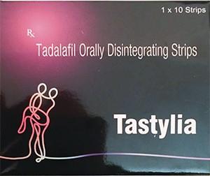 Tadalafil Tastylia orally disintegrating streaps 20mg
